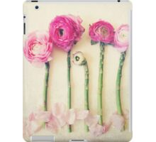 Asparagus and Pink Flowers iPad Case/Skin