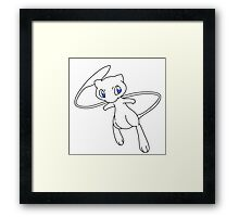 WHITE MEW Framed Print