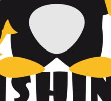 Fishing And Beer Penguin Sticker