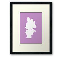 Spike Silhouette Framed Print