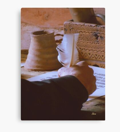 A Monk's Quill Canvas Print