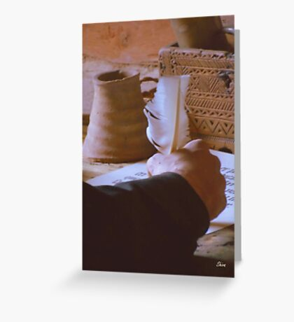 A Monk's Quill Greeting Card