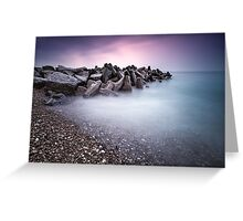 Rocky breakwater (Bovbjerg) Greeting Card