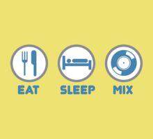 Eat Sleep Mix DJ Shirts Kids Clothes
