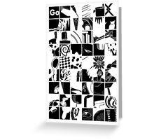 Go: Black & white grid Greeting Card