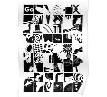Go: Black & white grid Poster