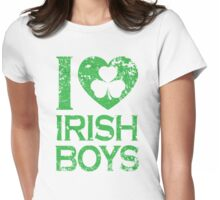 I Love Irish Boys Womens Fitted T-Shirt