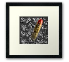 single bullet theory II Framed Print