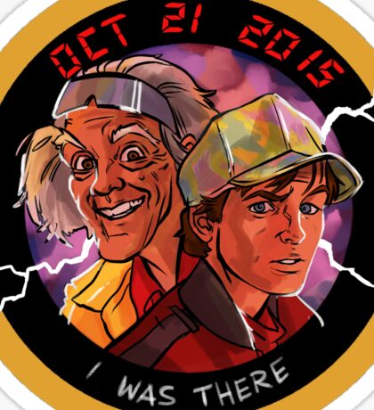 Back To The Future - 2015! Sticker