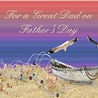 For a Great Dad On Father's Day Card by Vickie Emms