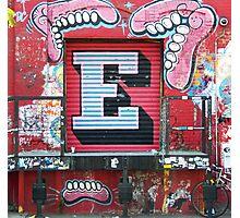 """E"" Photographic Print"
