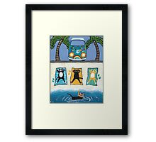 Cats on Summer Holiday Framed Print
