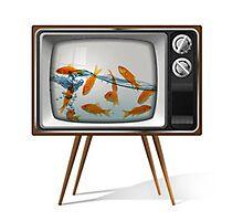 Gold fish tv 02 Photographic Print