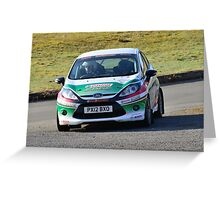 Race2Recovery Ford Fiesta Greeting Card