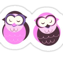 4 Pink Owls Sticker
