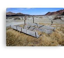 Old Covered Wagon,Black Rock Desert,near Gerlach,Nevada USA 2 Canvas Print