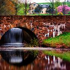 Bridge,Waterfall in Spring by KellyHeaton