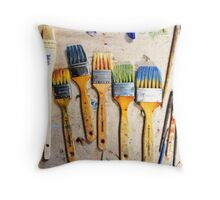 Studio Brushes Throw Pillow