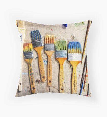 Studio Brushes Throw Pillow