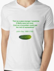 Cool as a Cucumber Mens V-Neck T-Shirt