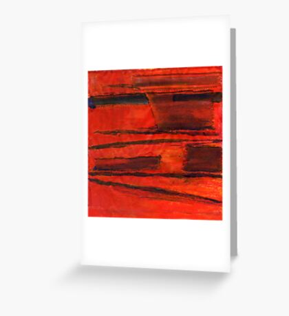 Abstract landscape with red Greeting Card