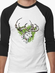 Inky Stag Men's Baseball ¾ T-Shirt