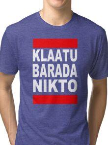 Klaatu Barada Nikto Tri-blend T-Shirt