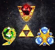 The Spiritual Stones inspired from Ocarina of Time by barrettbiggers