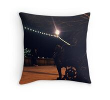 The city, it never sleeps, the lights never go out. Throw Pillow