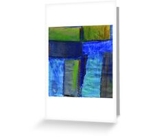 Abstract landscape with blue Greeting Card
