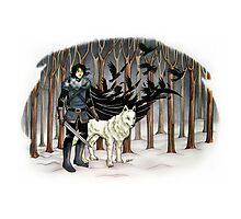 The Crow and the Wolf Photographic Print