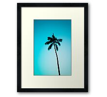 palm tree ver.skyblue Framed Print
