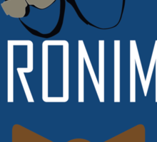 Doctor Who Geronimo Badge Sticker