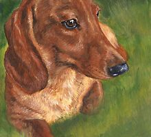 Red Dachshund Love by Hope Lane