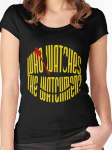 Who Watches the Watchmen? Women's Fitted Scoop T-Shirt