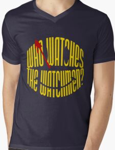 Who Watches the Watchmen? Mens V-Neck T-Shirt
