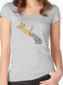 Thinking of you Rainbow + Greeting Card Women's Fitted Scoop T-Shirt