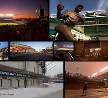 Chicago Cubs Photo Collage  by Sven Brogren
