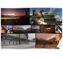 Chicago Cubs Photo Collage  Poster