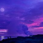 Lavender Moon over Kalapana by Alex Preiss