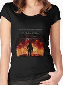 Firefighter Tribute Women's Fitted Scoop T-Shirt