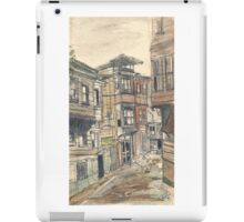 watercolor wash street iPad Case/Skin