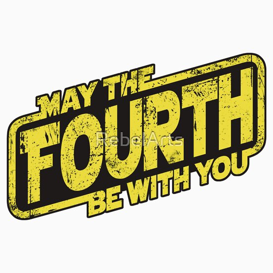 "May The Fourth Be With You Waterside: ""May The Fourth Be With You (sticker)"" Stickers By"