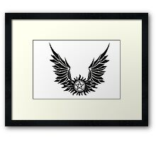 SPN Anti-Possession Tattoo with Wings Framed Print