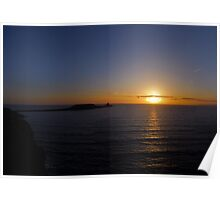 Worms Head Sunset, Gower Poster