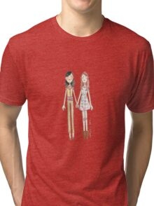 Lizzie Bennet Diaries - Charlotte and Lizzie Tri-blend T-Shirt