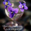 Purple Violets in Eye Cup by KellyHeaton