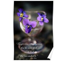 Purple Violets in Eye Cup Poster