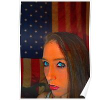 Stormy Gayle Blue Eyes Poster