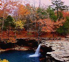 Autumn Sundown,  Falling Water Falls by NatureGreeting Cards ©ccwri